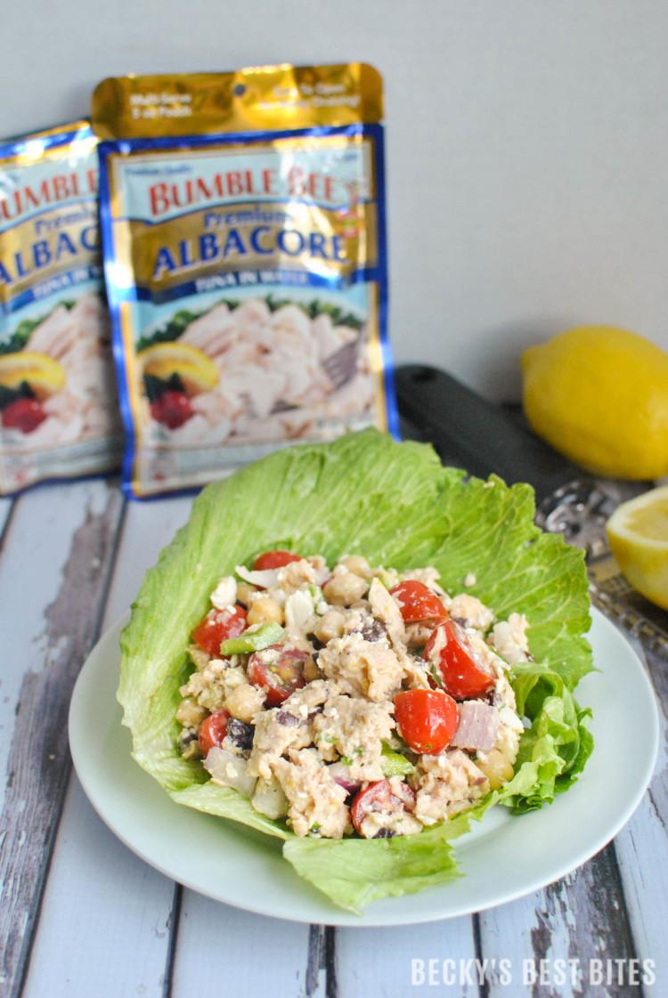 Mediterranean Tuna Lettuce Wraps-2