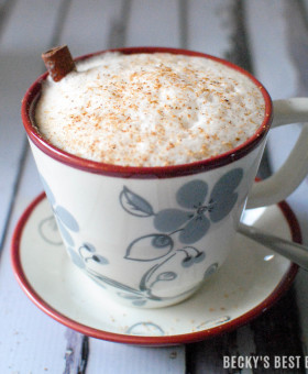 Impress your holiday guests with a comforting and Healthy Holiday Chai Tea Latte. Make the most out of the holiday season with help from Hallmark Gold Crown. | beckysbestbites.com #Hallmark #ad