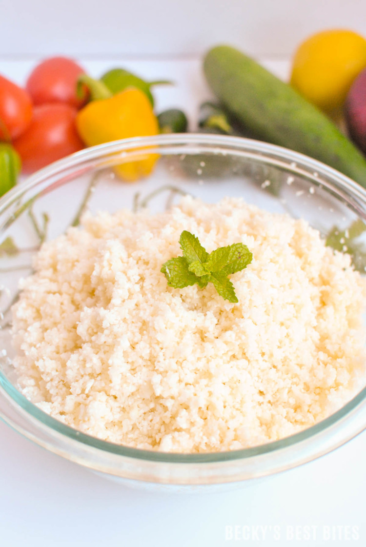 How To Make Cauliflower Rice or Couscous-7