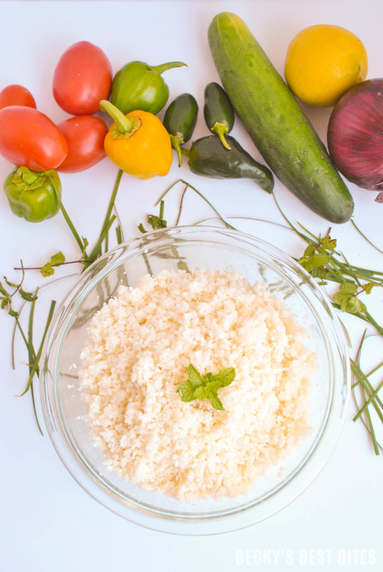 How To Make Cauliflower Rice or Couscous-8