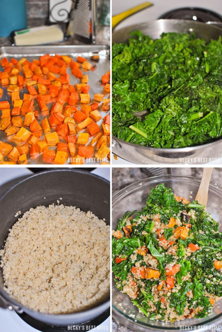 Kale roasted vegetable quinoa casserole kale roasted vegetable quinoa casserole is a healthy vegetarian comfort food recipe that forumfinder Images