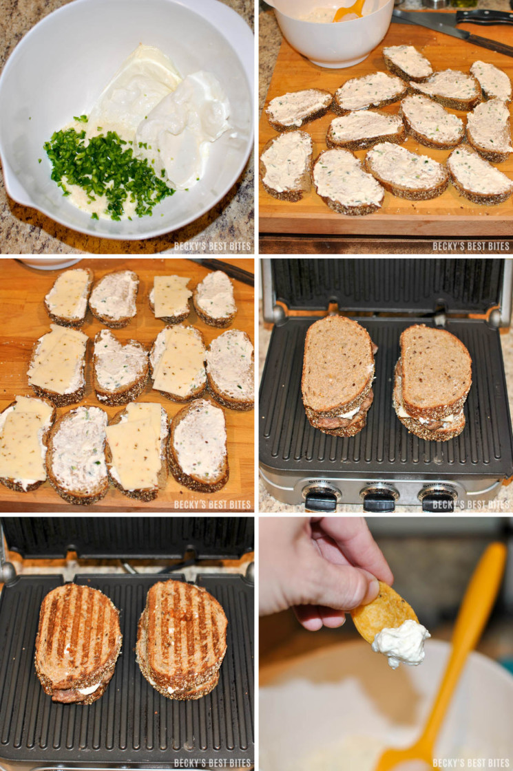 Jalapeno Popper Patty Melt Instruction Collage