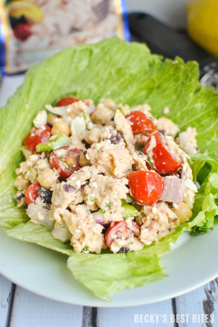 Mediterranean Tuna Lettuce Wraps-3