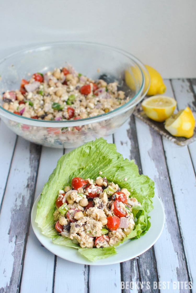 Mediterranean Tuna Lettuce Wraps-4