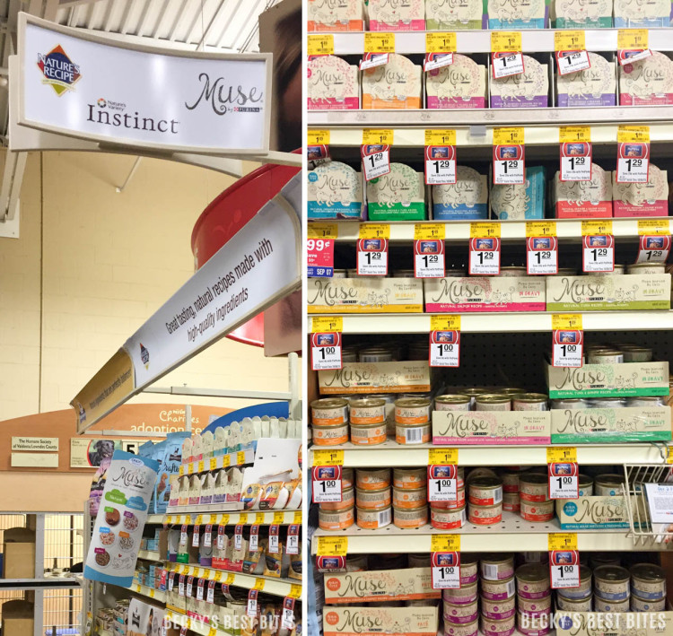 Purina Muse® Natural Cat Food is sold exclusively at PetsMart
