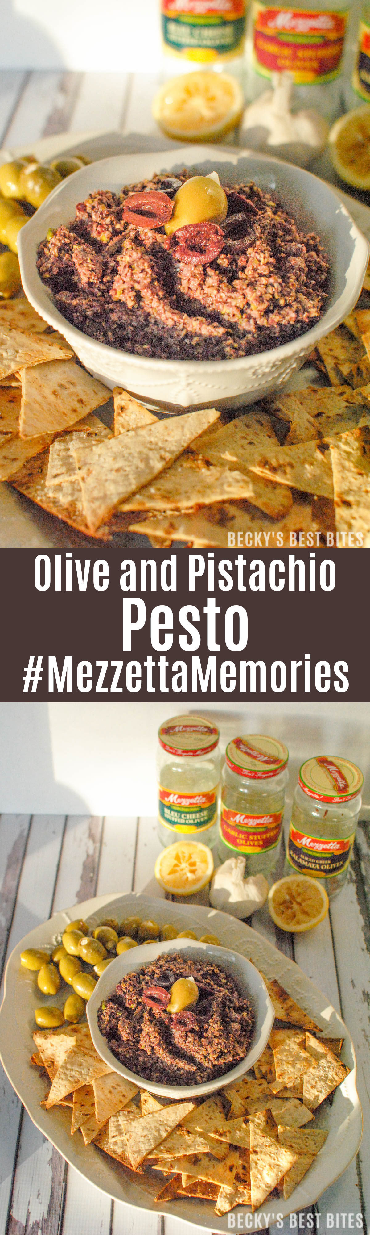 Mezzetta Olive and Pistachio Pesto is a holiday recipe that the whole family can enjoy! Win a holiday memories sharing pack. Easy Giveaway #MezzettaMemories #ad |beckysbestbites.com