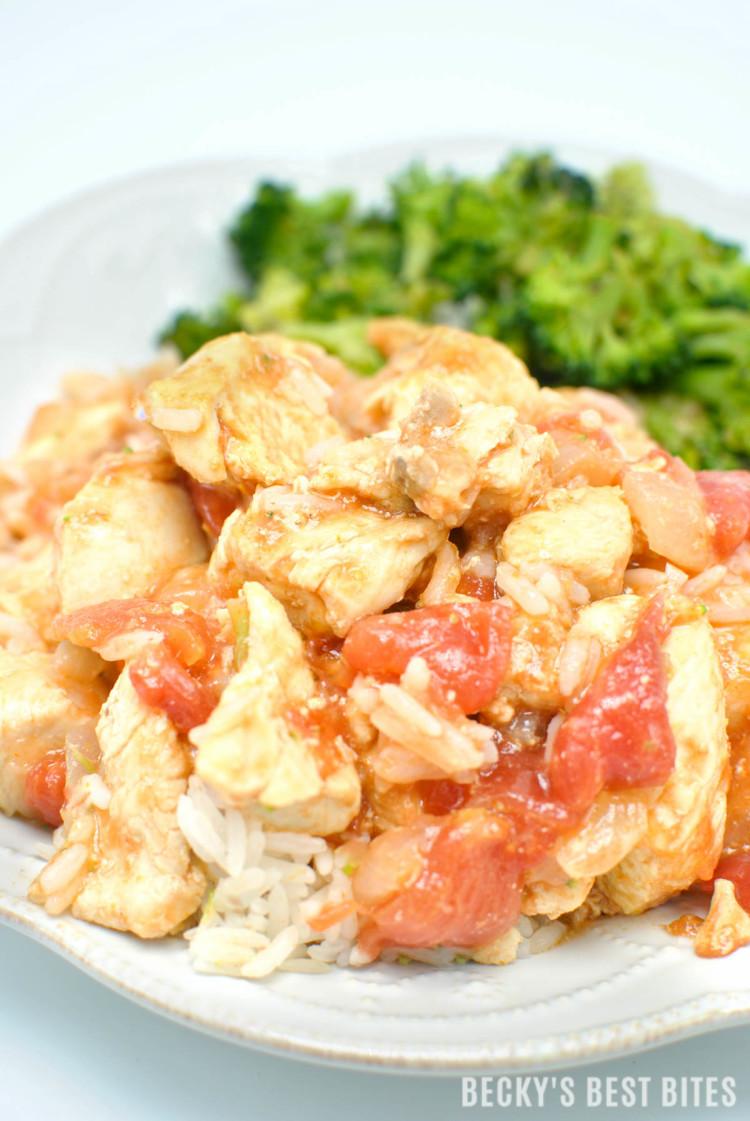 Easy Thai Chicken Curry | beckysbestbites.com