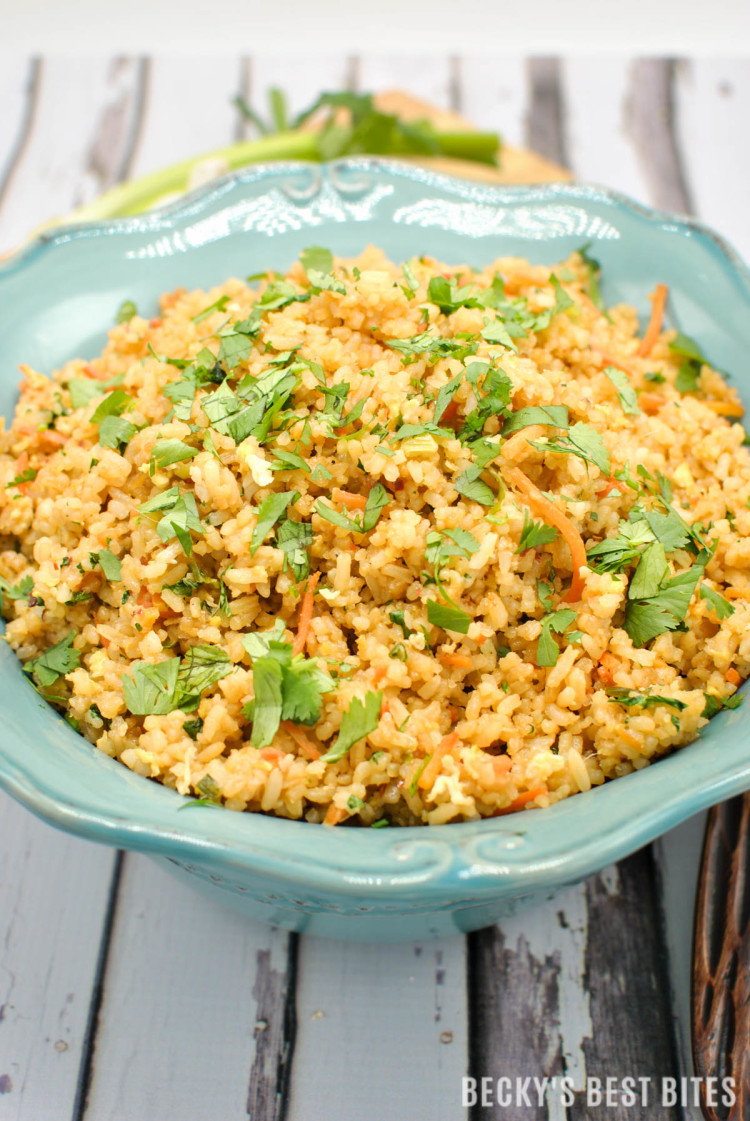 Easy Spicy Unfried Rice | beckysbestbites.com