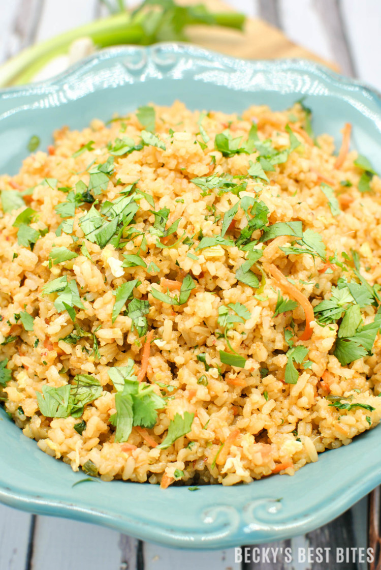 asy Spicy Unfried Rice | beckysbestbites.com