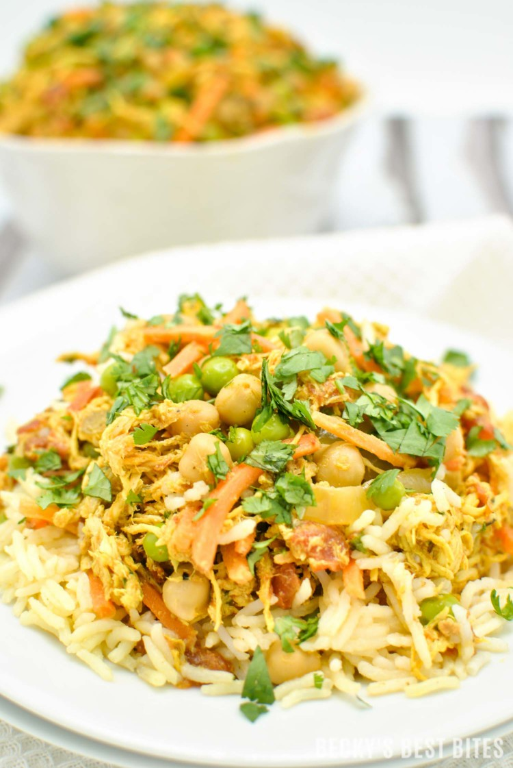Slow Cooker Chicken Tikka Masala with Vegetables | beckysbestbites.com