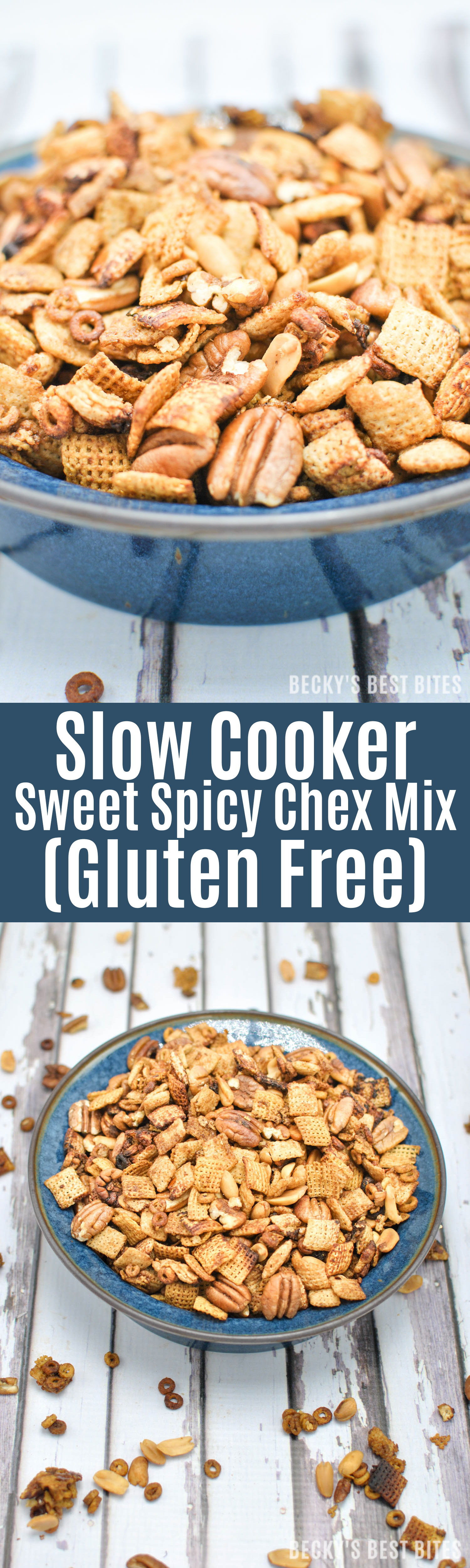 Slow Cooker Sweet Spicy Chex Mix (Gluten Free) is a healthier option for perfect the summertime snack. Learn about the variety and versatility of gluten free cereal at Publix and grab your coupon today! #GlutenFreeCereal #glutenfreecherrios #PublixGlutenFreeCereals #ad | beckysbestbites.com