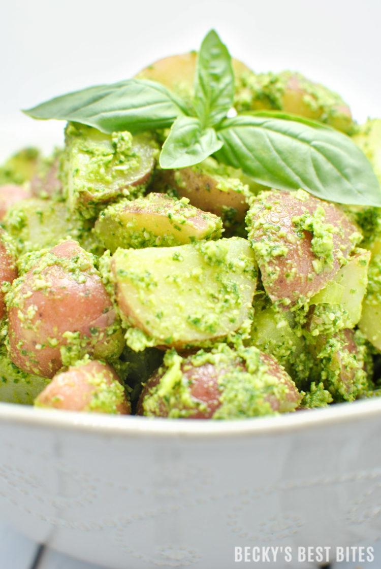 Summer Pesto Potato Salad | beckysbestbites.com