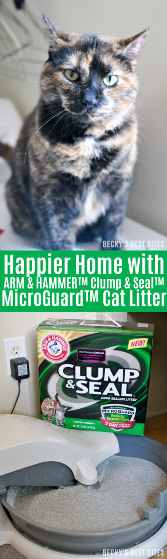 #ad Get a Happier Home with ARM & HAMMER™ Clump & Seal™ MicroGuard™ Cat Litter! Experience the confidence of 7-day odor control—guaranteed thanks to the heavy-duty odor eliminators plus ARM & HAMMER™ Baking Soda that destroy immediate odors on contact. | beckysbestbites.com #clumpandseal #sk