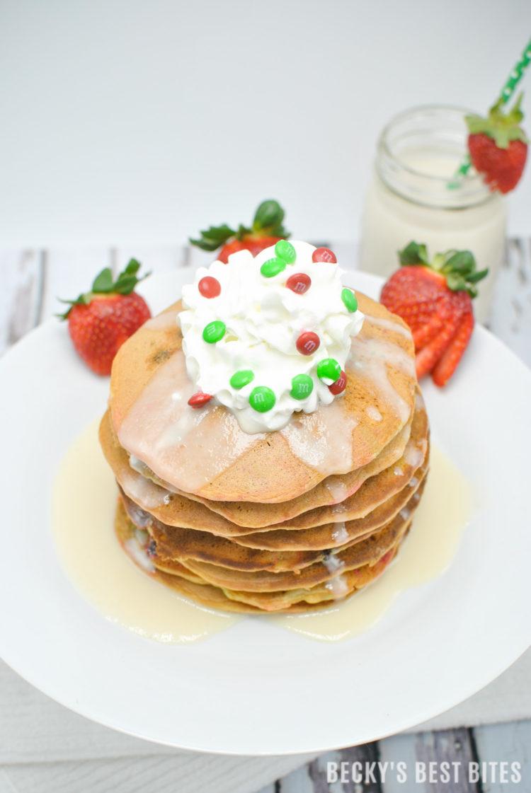 MM Christmas Cake Pancakes beckysbestbitescom