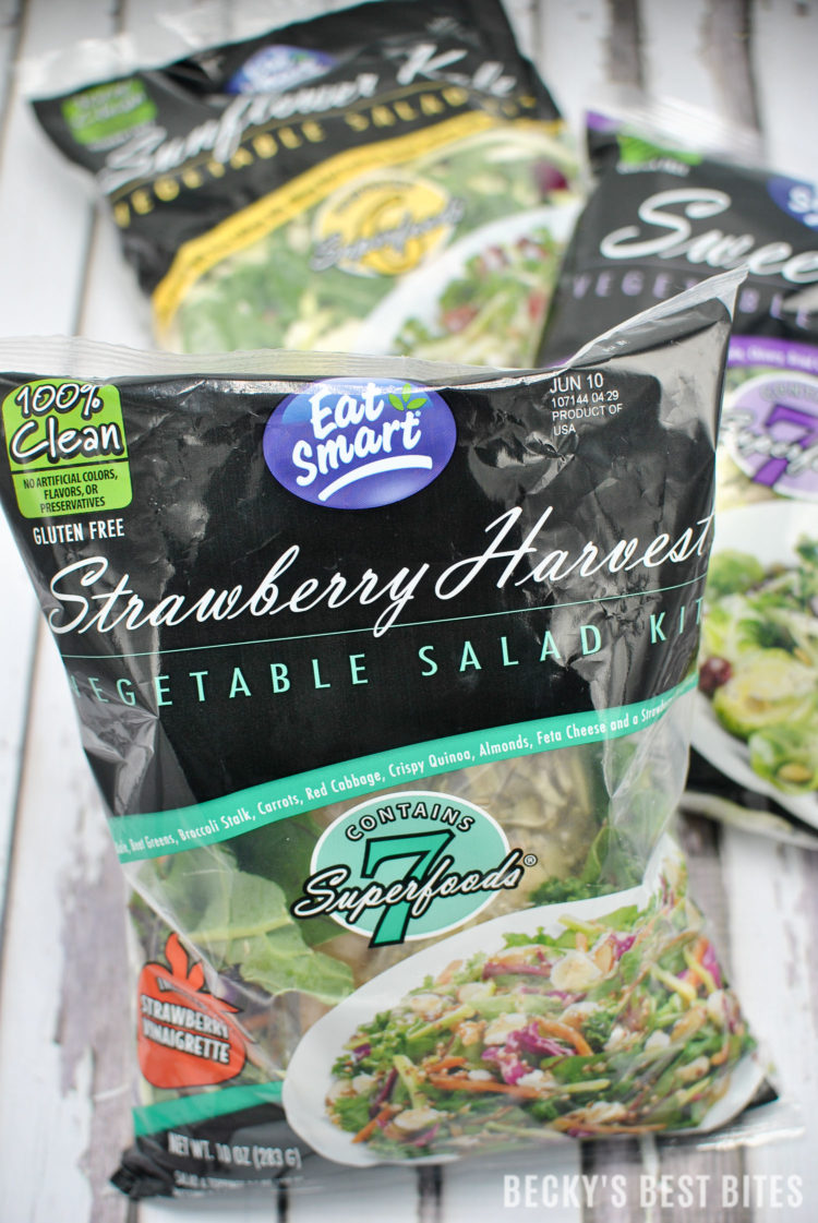 Learn how Eat Smart Clean Label Salad Kits are helping me achieve my personal wellness goals! It is time for a Summer Slim down to feel confident in a bathing suit the first time post baby. #EatSmartEatClean #IC#ad