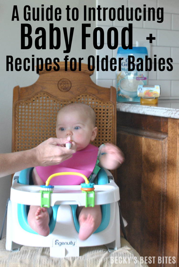 A Guide to Introducing Baby Food + Two Quick and Easy Recipes for Older Babies: Italian Turkey Meatball & Peaches and Cream Pancakes using Gerber® Infant/Baby Cereals from Target. #ad | beckysbestbites.com